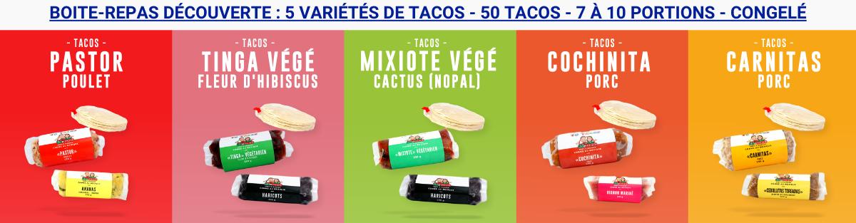 boite repas découverte de 50 tacos
